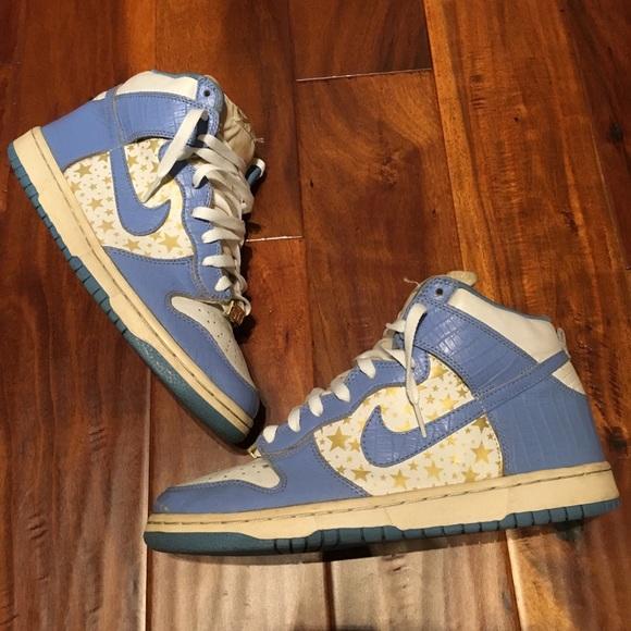 "separation shoes 197ae 142a9 Supreme X Nike SB High Dunk ""Blue Stars"""